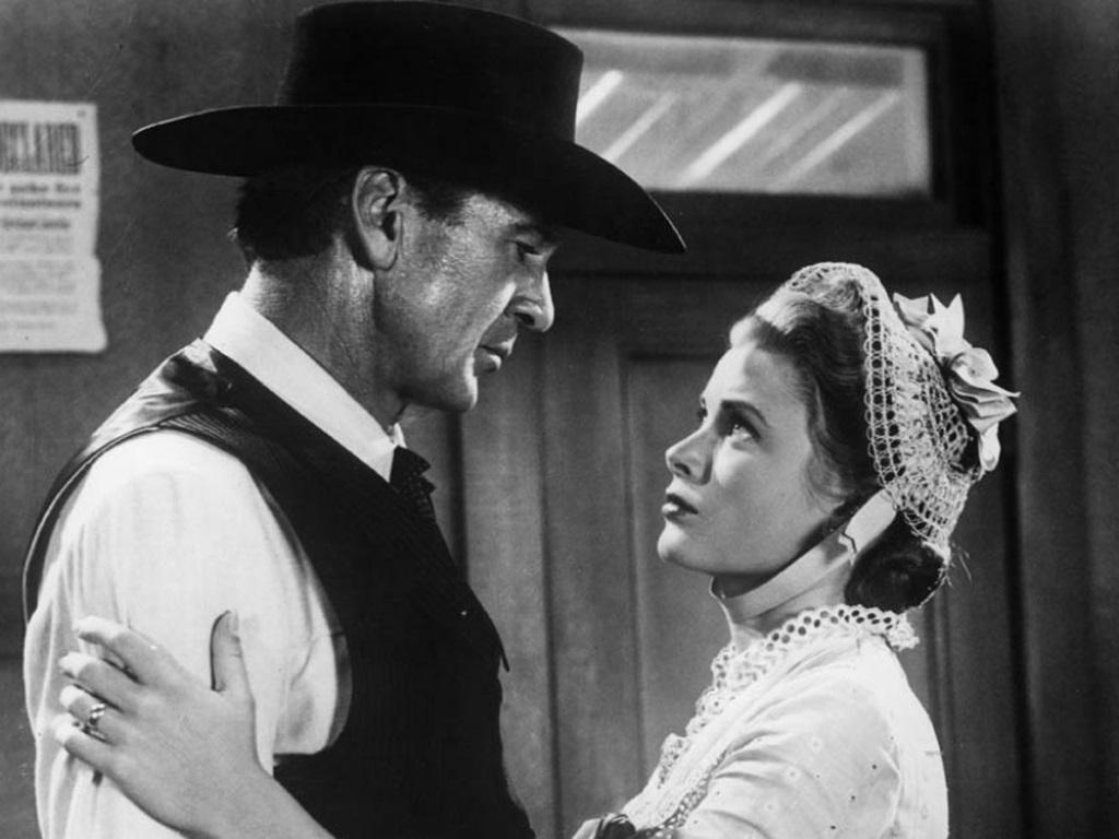"""Con Gary Cooper in """"Mezzogiorno di Fuoco"""" (1952)"""