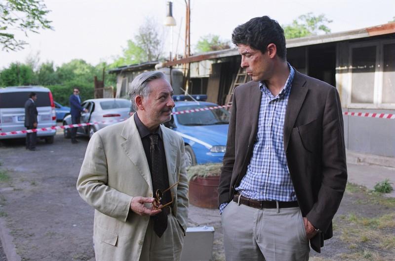 """Con Alessandro Gassmann sul set de """"Il Padre e lo Straniero"""""""