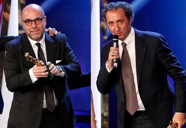 I due protagonisti dei David, Paolo Virzì e Paolo Sorrentino