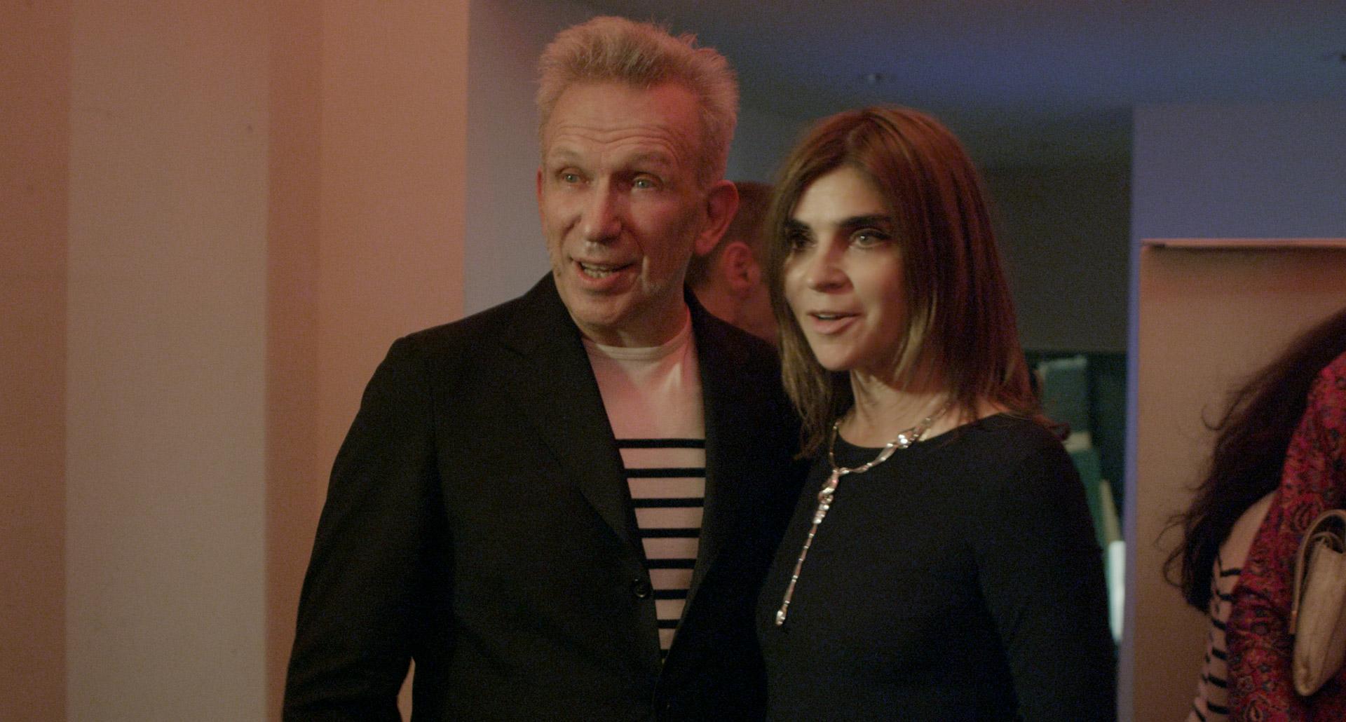 Lo Roitfeld con Jean Paul Gaultier
