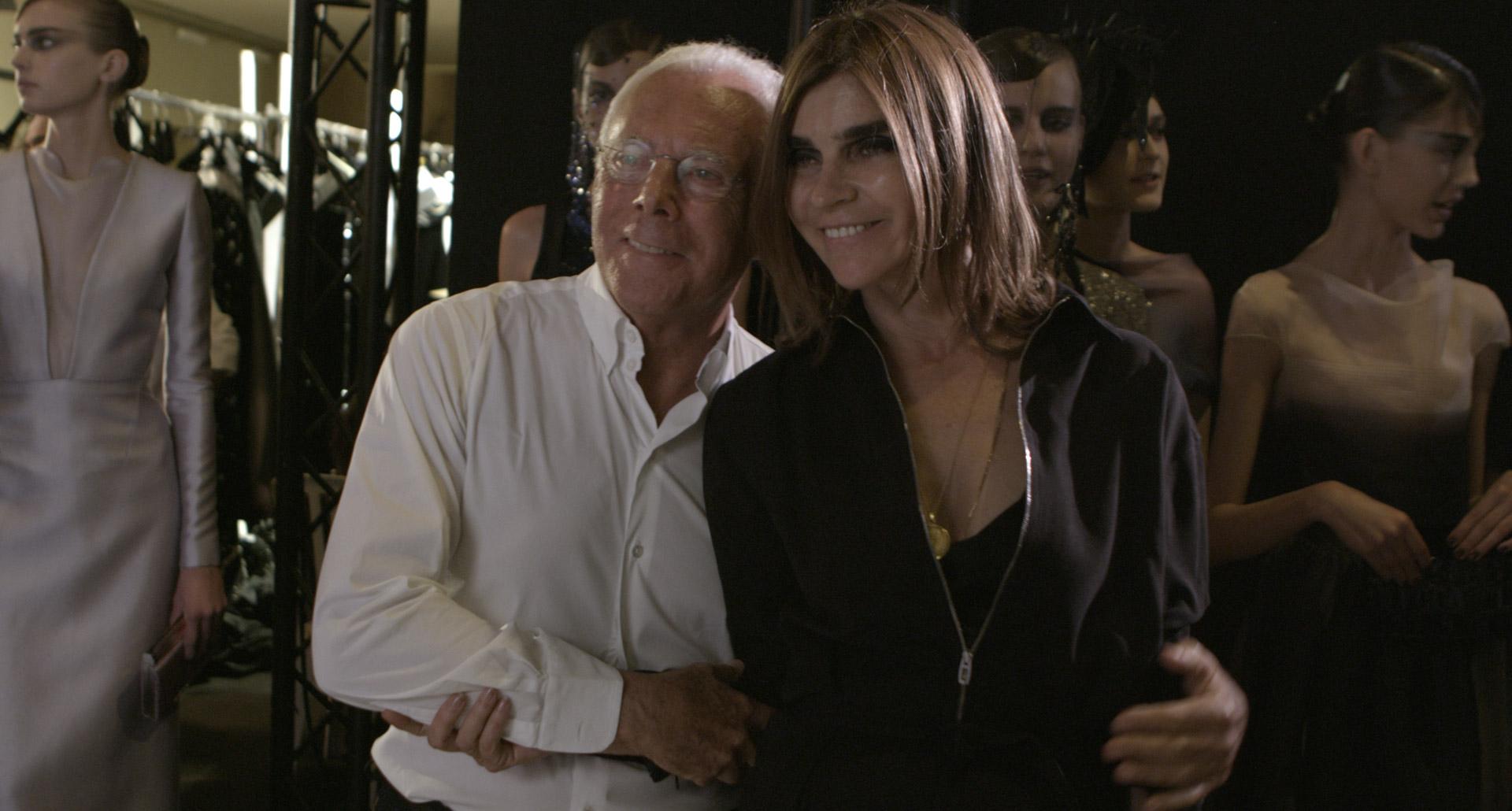 Insieme a Giorgio Armani