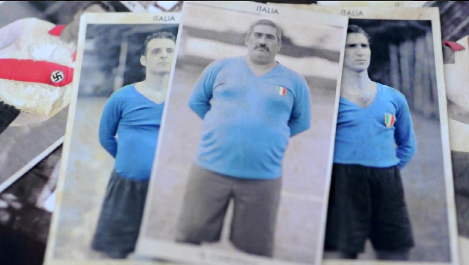 Tre figurine dell'Italia nel Mondiale di...Patagonia '42