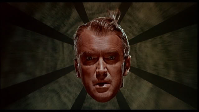 "James Stewart in ""Vertigo"" di Alfred Hitchcock (1958)"