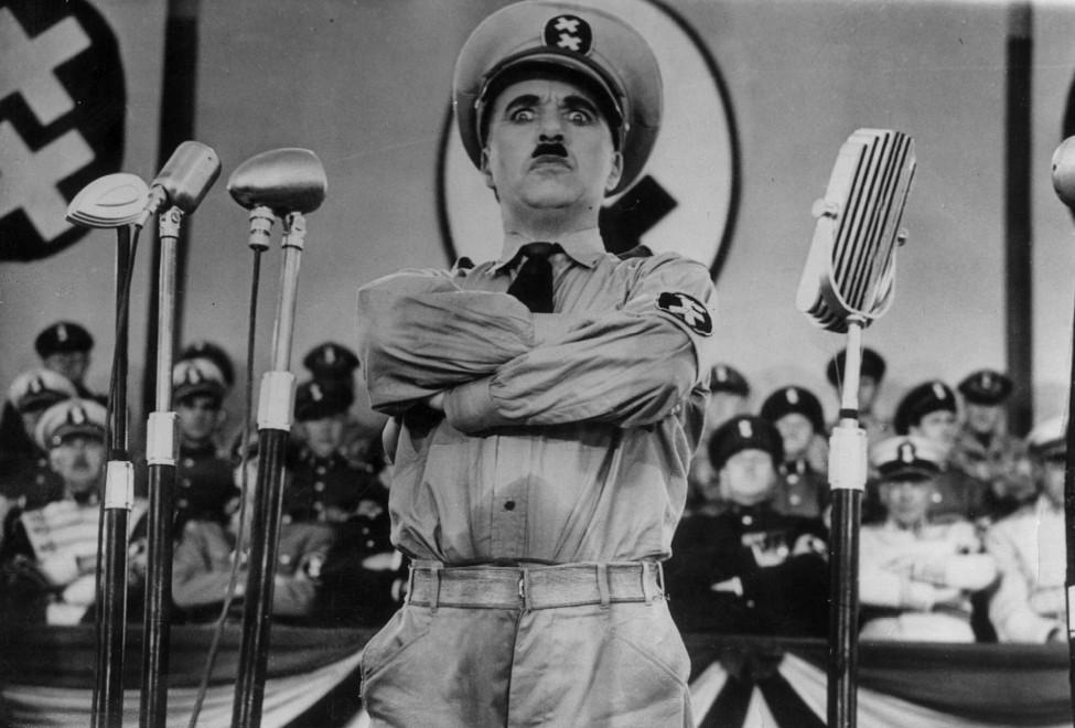 "Charlie Chaplin in ""Il Grande Dittatore"" (1940)"