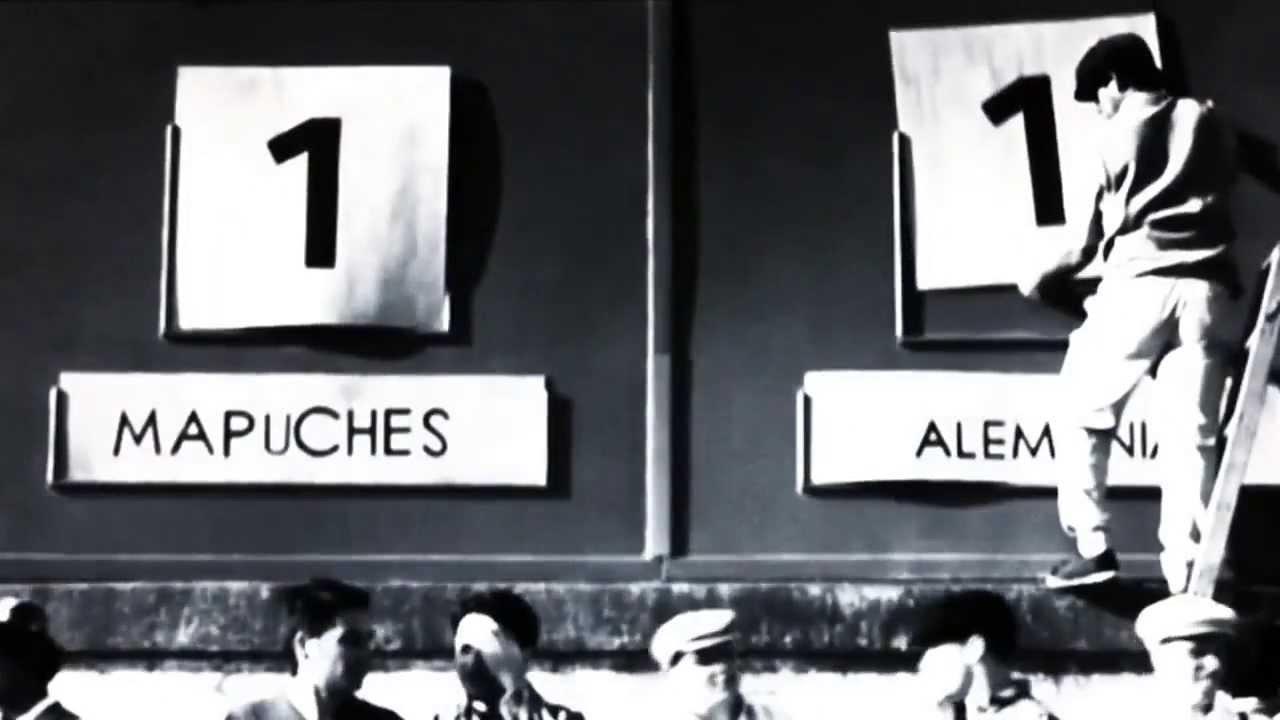"""Il tabellone della finale de """"Il Mundial Dimenticato Patagonia 1942"""" tra Mapuches e Germania"""