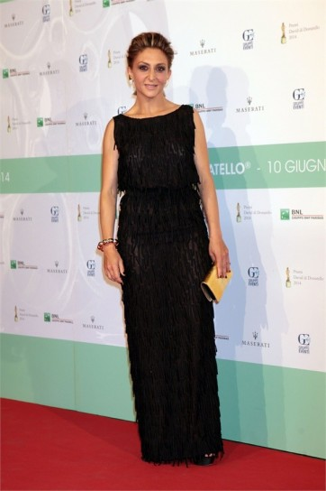 paola-minaccioni-in-black-long-dress