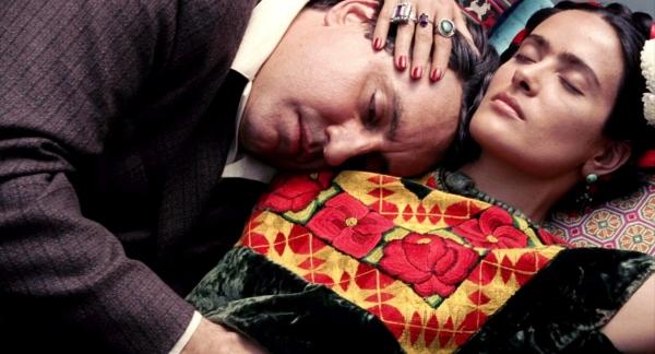 "Salma Hayek nei panni della Kahlo in ""Frida"" di Julie Taymor"