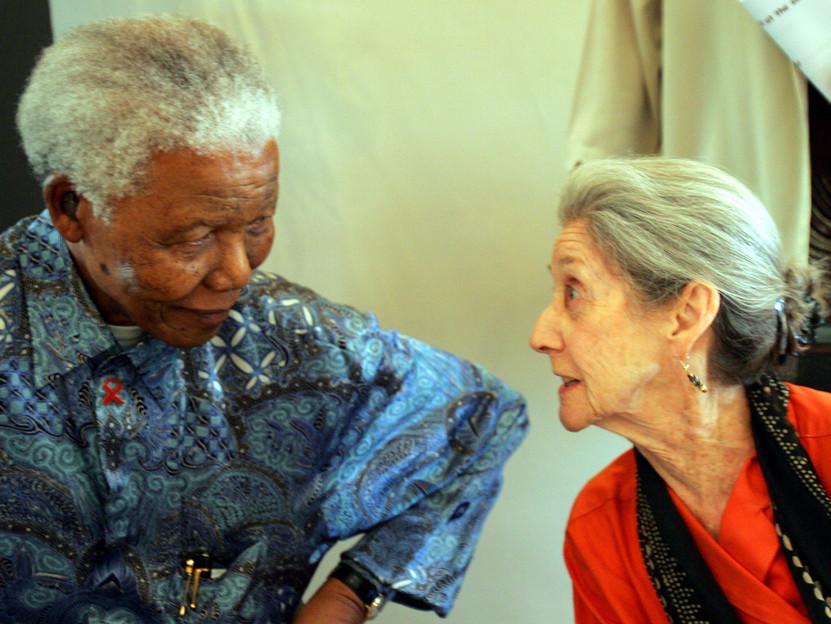 Insieme a Nelson Mandela