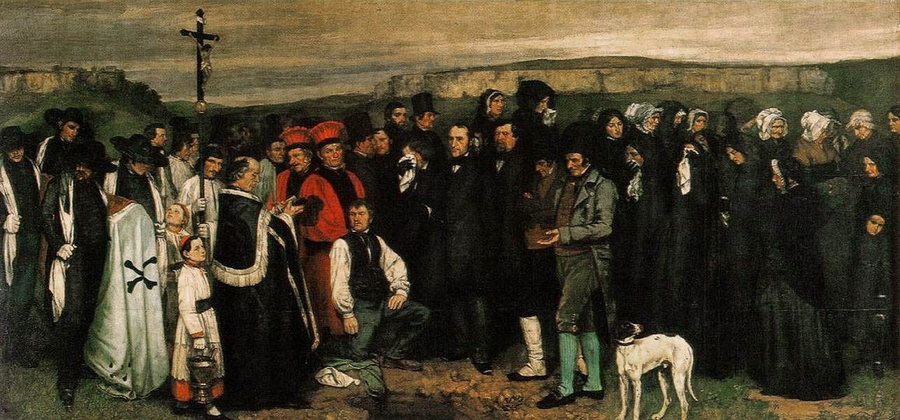 """Funerale a Ornans"", dipinto di Gustave Courbet (1849)"