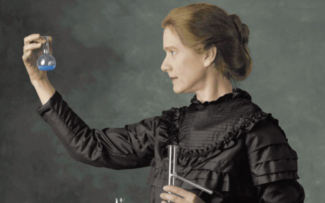 Marie Curie in un dipinto