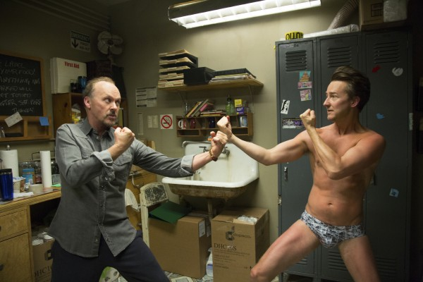 Michael Keaton ed Edward Norton