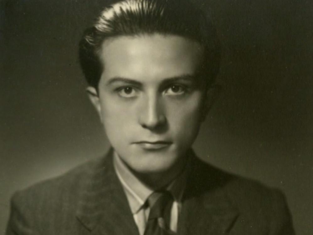 Un giovane Giulio Andreotti