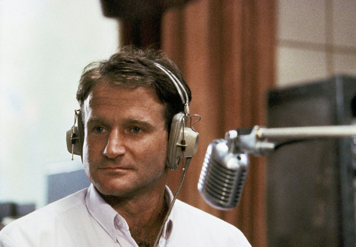 "AP PROVIDES ACCESS TO THIS HANDOUT PHOTO TO BE USED SOLELY TO ILLUSTRATE NEWS REPORTING OR COMMENTARY ON THE FACTS OR EVENTS DEPICTED IN THIS IMAGE. THIS IMAGE MAY ONLY BE USED FOR 14 DAYS FROM TIME OF TRANSMISSION; NO ARCHIVING; NO LICENSING.2180 NO SALE FILE - This 1987 file photo released by Touchstone Pictures shows actor Robin Williams in character as disc-jockey Adrian Cronauer in director Barry Levinsons comedy drama, ""Good Morning Vietnam."" Williams, whose free-form comedy and adept impressions dazzled audiences for decades, has died in an apparent suicide. He was 63. The Marin County Sheriff's Office said Williams was pronounced dead at his home in California on Monday, Aug. 11, 2014. The sheriff's office said a preliminary investigation showed the cause of death to be a suicide due to asphyxia. (AP Photo/Touchstone Pictures) o"