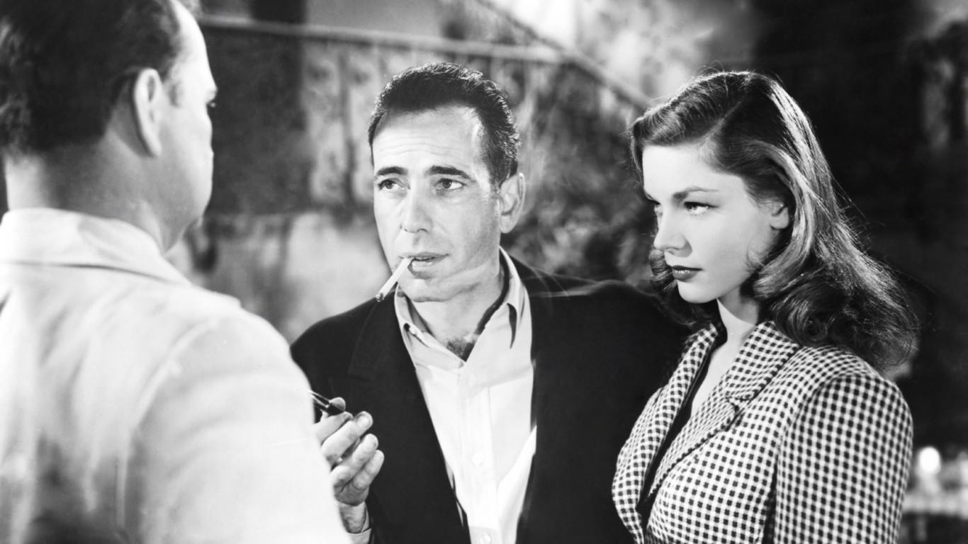 Insieme a Humphrey Bogart
