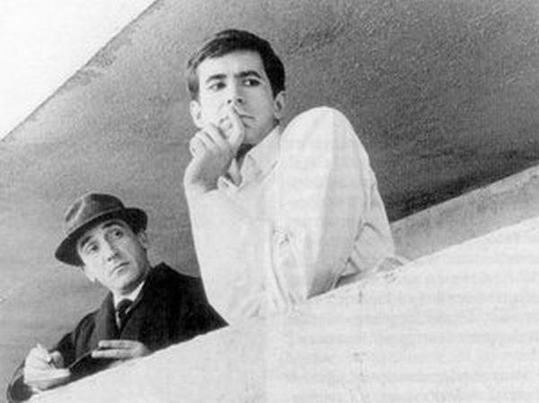 """Con Anthony Perkins ne """"Il Processo"""" di Orson Welles"""