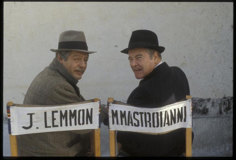 """Sul set di """"Maccheroni"""" con Jack Lemmon (Foto Archivio Frontoni)"""