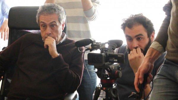 Mario Sesti e Marco Chiarini sul set del documentario