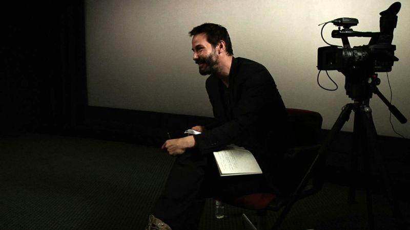 """Keanu Reeves durante le riprese di """"Rivoluzione Digitale"""""""