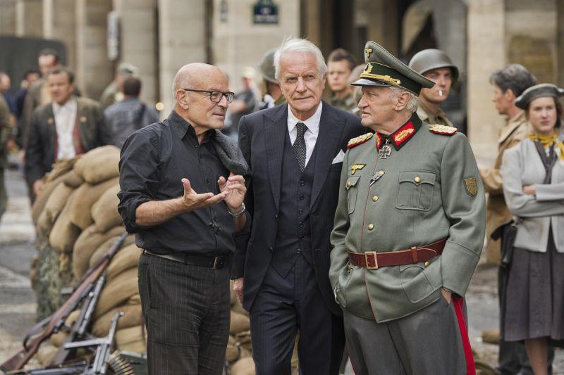 Il regista Volker Schlöndorff con i due protagonisti del film
