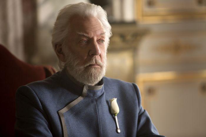 Donald Sutherland è il Presidente Snow