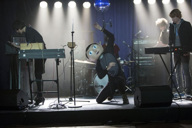 Frank sul palco