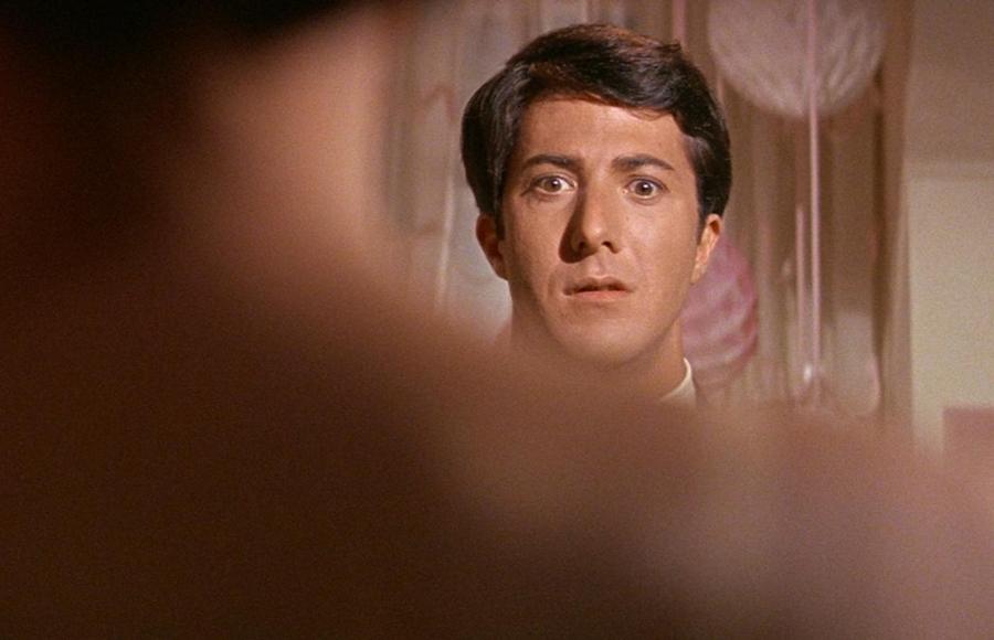 """Dustin Hoffman nel celeberrimo """"Il Laureato"""" (1967)"""