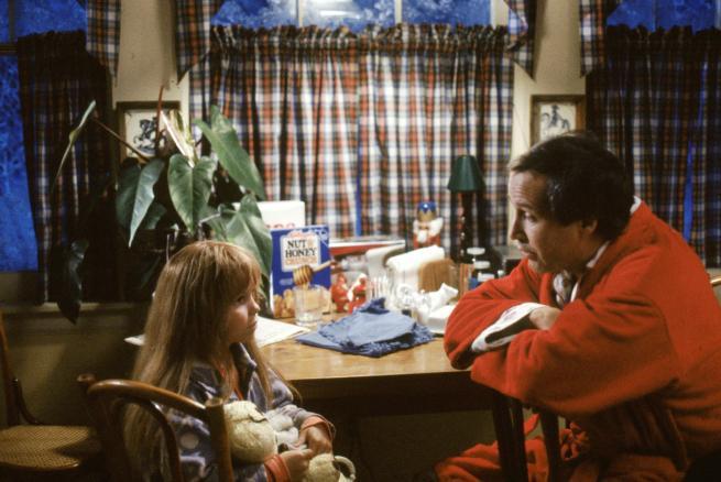 Una piccola Diane Lane con Chevy Chase