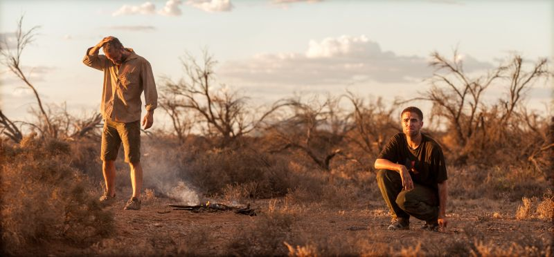 "Pearce-Pattinson, i due protagonisti di ""The Rover"" (foto di Robert Pattinson è Rey (foto di Matt Nettheim)"