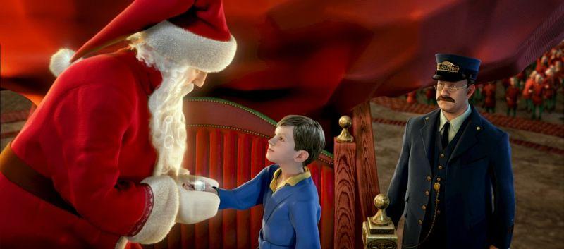 Babbo Natale consegna il primo dono al protagonista