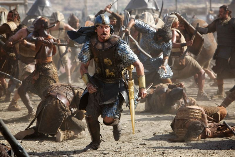 Christian Bale nei panni di Mosè