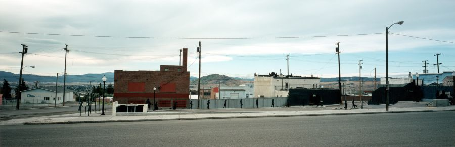 3. Wim Wenders Square with Cut-Out Figures in Butte, Montana © for the reproduced works and texts by Wim Wenders: Wim Wenders/Wenders Images/Verlag der Autoren 2000 C - Print  178 x 447 cm