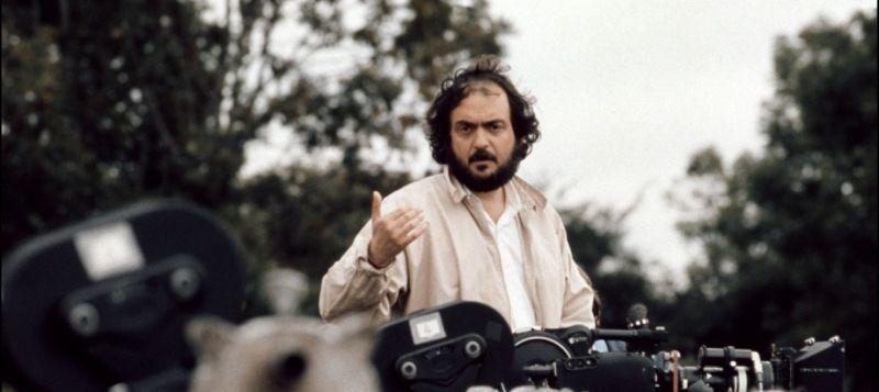 Stanley Kubrick sul set del film