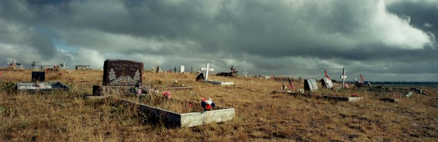 8. Wim Wenders Indian Cemetery in Montana © for the reproduced works and texts by Wim Wenders: Wim Wenders/Wenders Images/Verlag der Autoren 2000 C - Print 178 x 447 cm