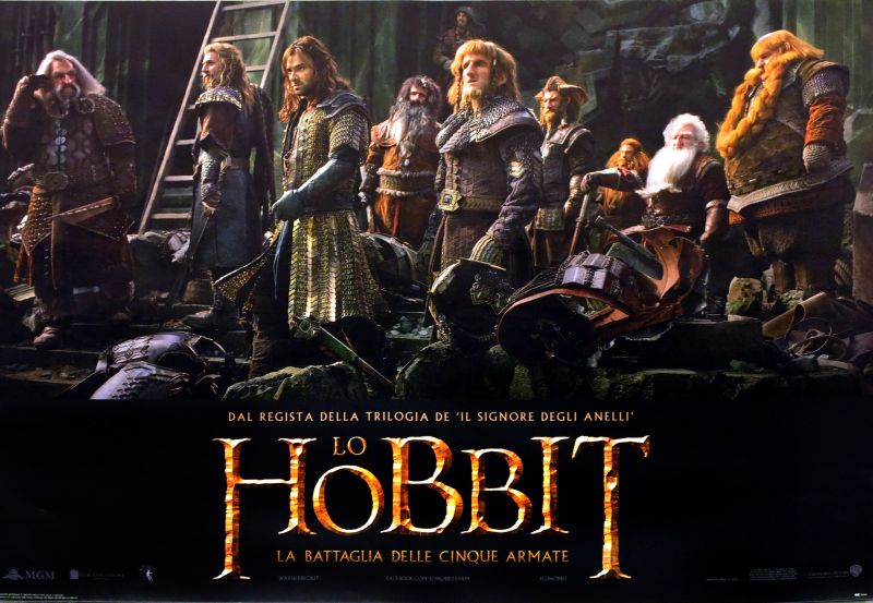 "Fotobusta de ""Lo Hobbit - La Battaglia delle Cinque Armate"""