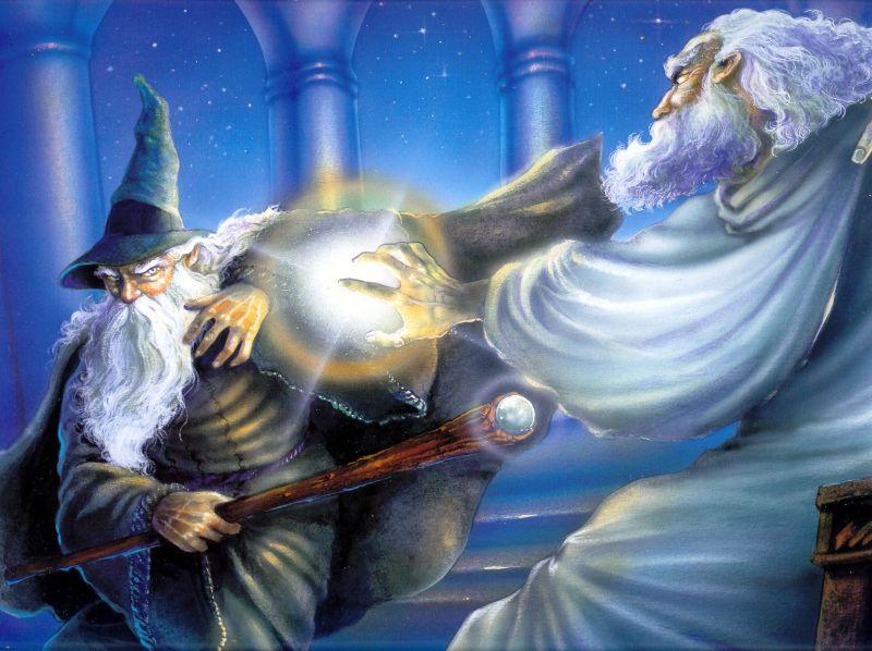 L'epico scontro tra Gandalf e Saruman disegnato da Angelo Montanini