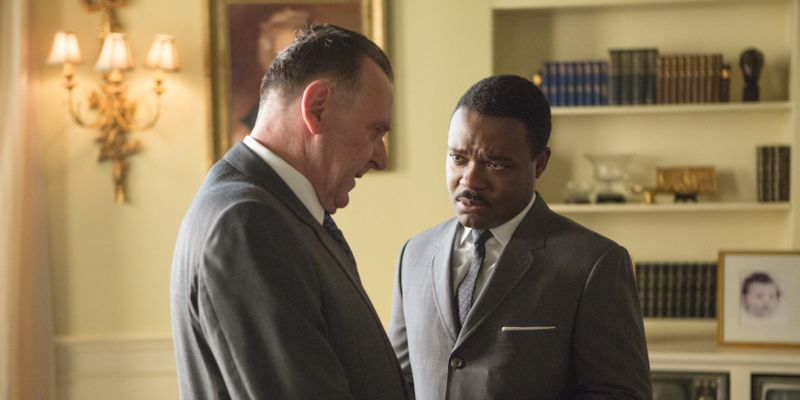 Il Presidente Lyndon B. Johnson con Martin Luther King Jr. (Tom Wilkinson e David Oyelowo)