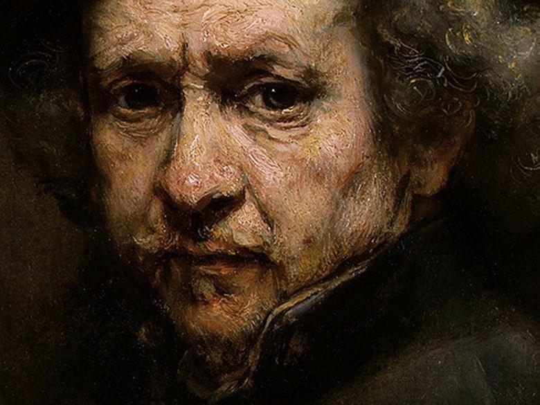 Uno degli autoritratti di Rembrandt