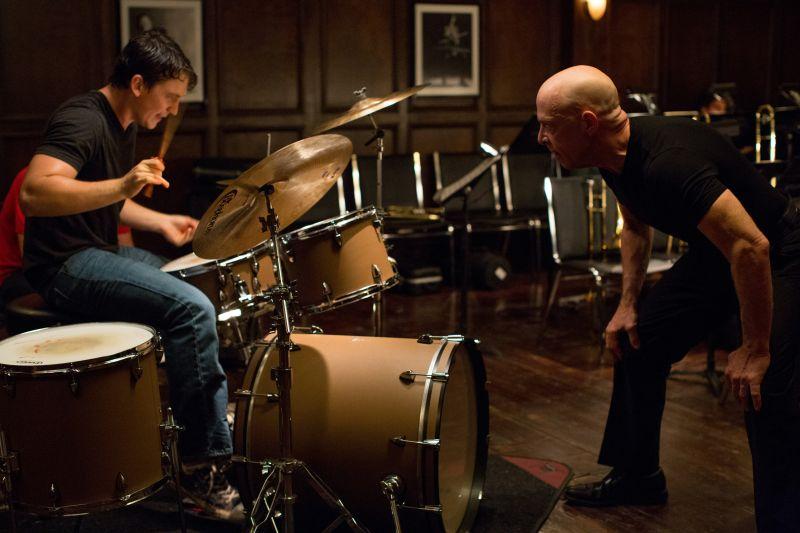 Andrew e Fletcher in sala prove (foto © Sony Pictures Classics)