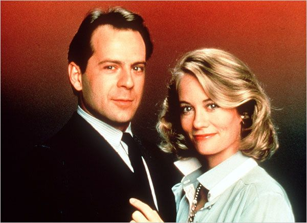 "Con Cybill Shepherd in ""Moonlighting"""