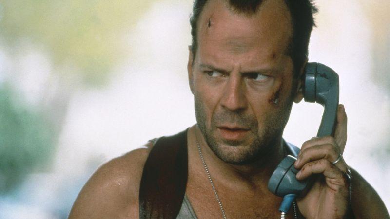"""Nei panni di John McLane in """"Die Hard"""""""