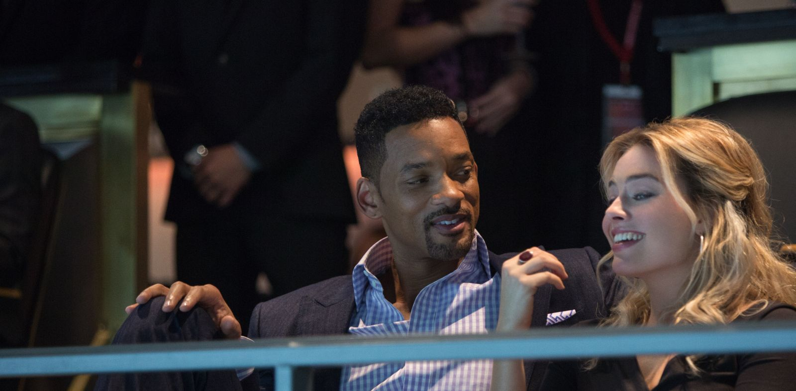 Will Smith e Margot Robbie (Foto di Frank Masi)
