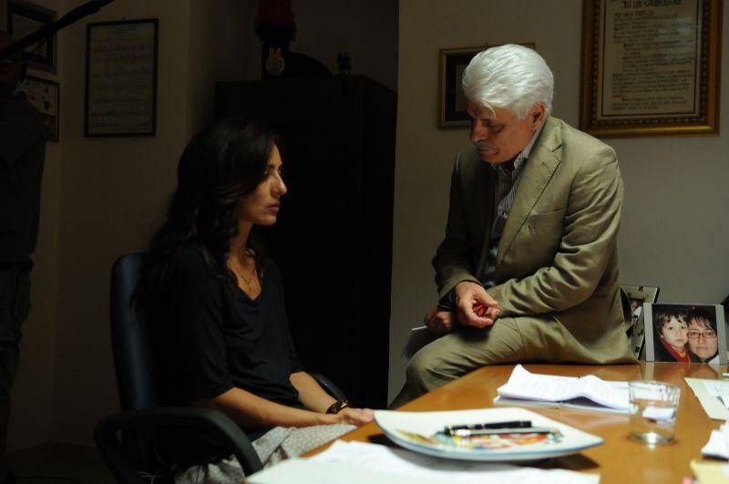 Ambra con Michele Placido