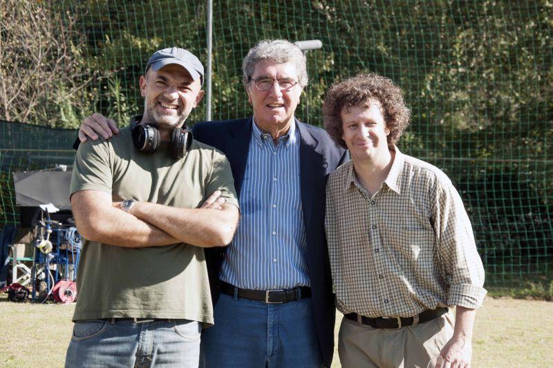Dino Zoff sul set tra Riccardo Paoletti e Andrea Muzzi