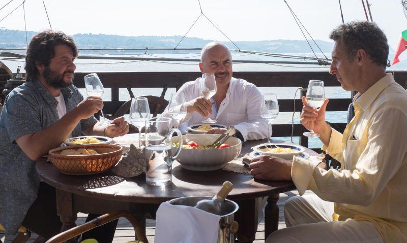 I tre protagonisti a tavola (foto di Franco Biciocchi)