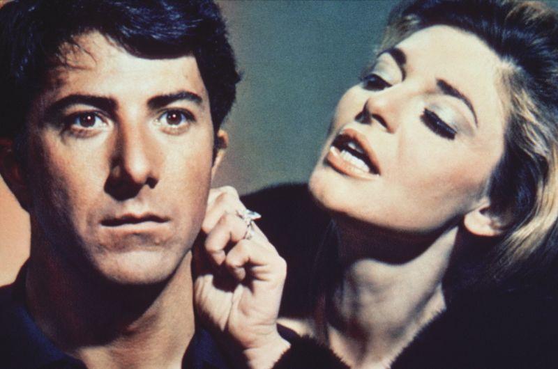 """Con Dustin Hoffman ne """"Il Laureato"""""""