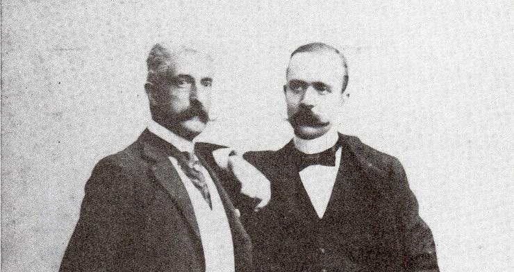 Giovanni Verga e Federico De Roberto (foto Luigi Capuana)