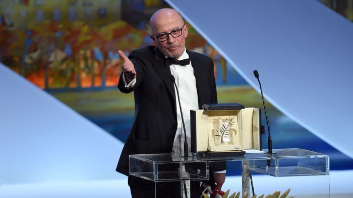 Jacques Audiard con la Palma d'Oro
