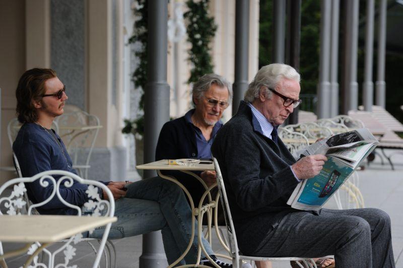 Paul Dano, Harvey Keitel e Michael Caine (foto di Gianni Fiorito)