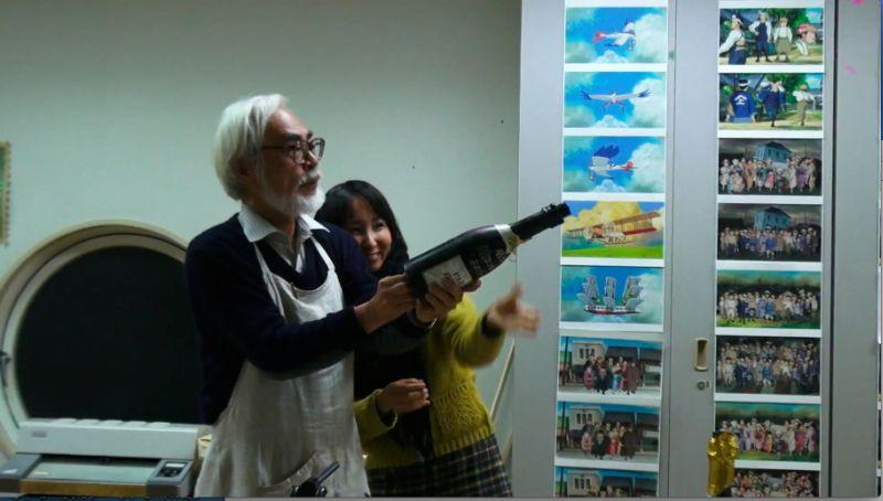 Hayao Miyazaki con Mami Sumada