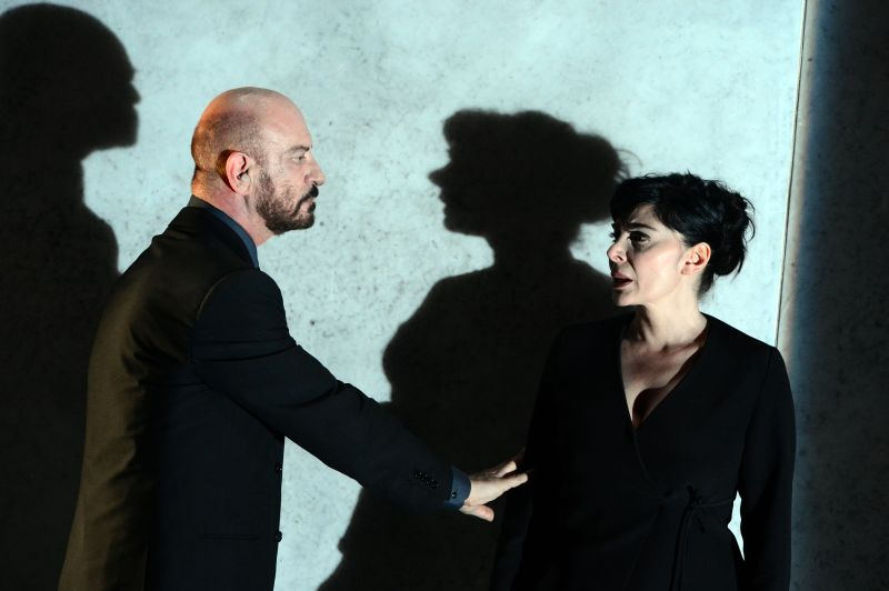 """Con Mariangela D'Abbraccio in """"Dopo il Silenzio"""" (foto di Tommaso Le Pera)"""